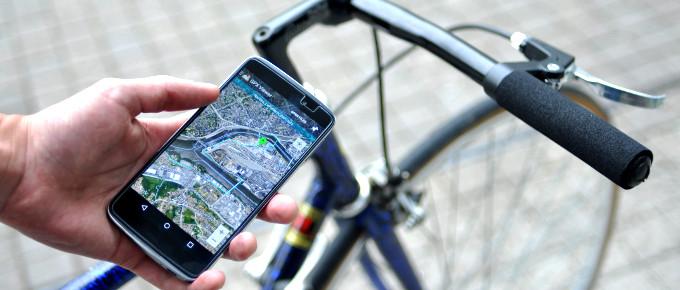 Application GPS pour les vélos