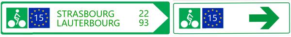 Signalisation - Panneaux EuroVelo 15