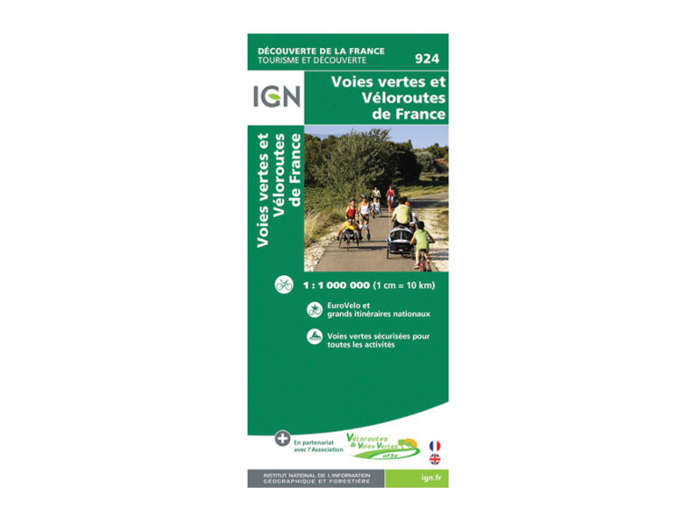 carte des voies vertes en france Carte des Voies vertes et Véloroutes de France